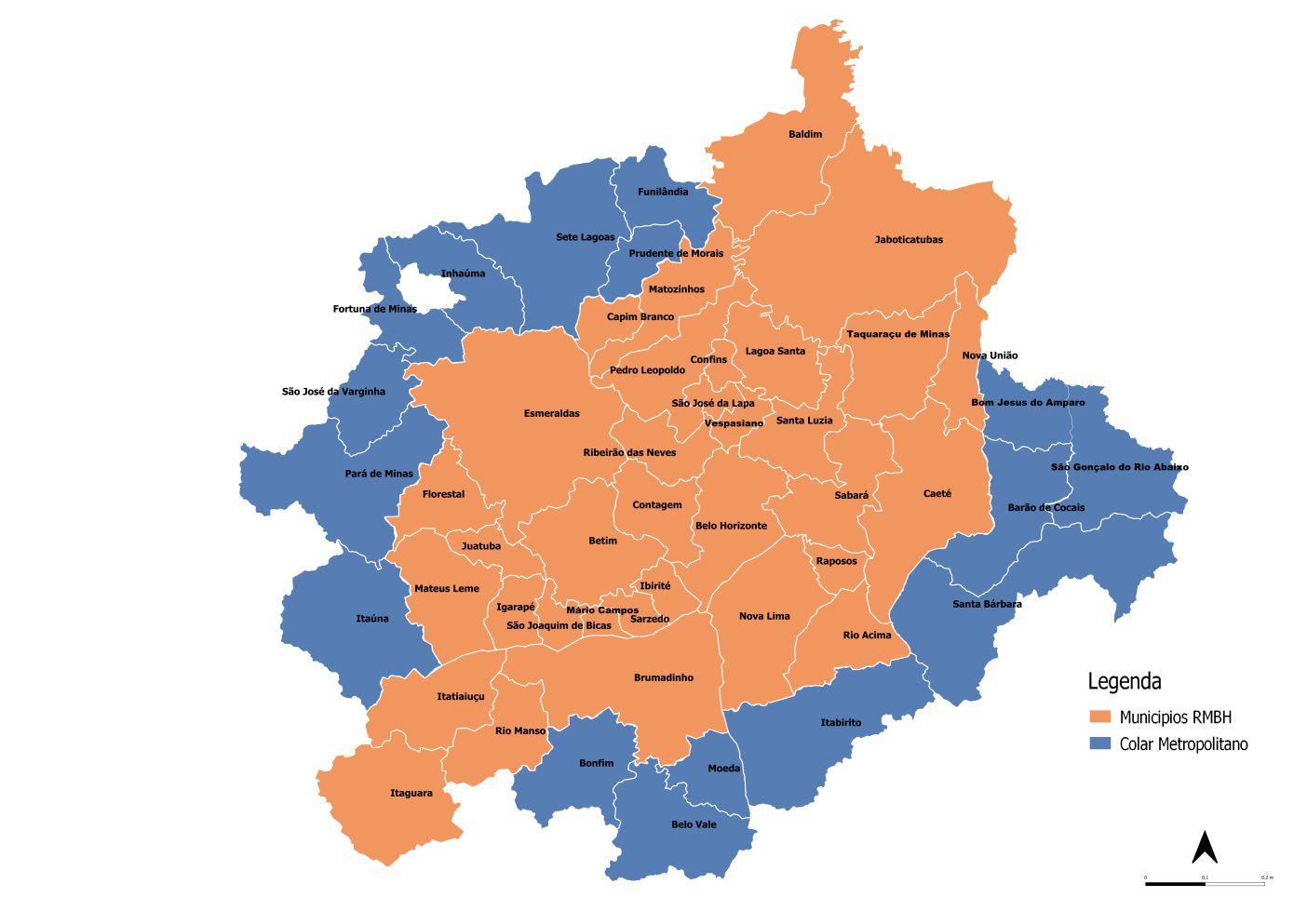 mapa conheca RMBH