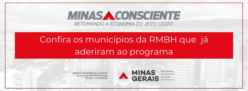 Minas Consciente: confira os municípios da RMBH que aderiram ao programa